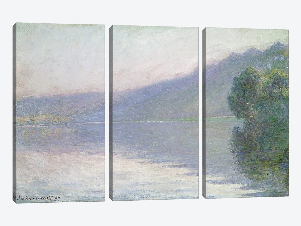 The Seine at Port-Villez, 1894 by Claude Monet 3-piece Canvas Art Print