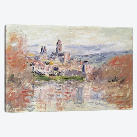 The Village of Vetheuil, c.1881  Canvas Print #BMN2958} by Claude Monet Canvas Artwork