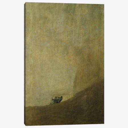 The Dog, 1820-23  Canvas Print #BMN295} by Francisco Goya Canvas Wall Art