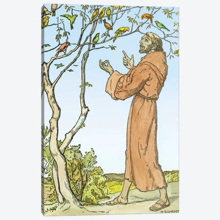 St. Francis of Assisi  3-Piece Canvas #BMN2962} by Hellmut Eichrodt Canvas Print