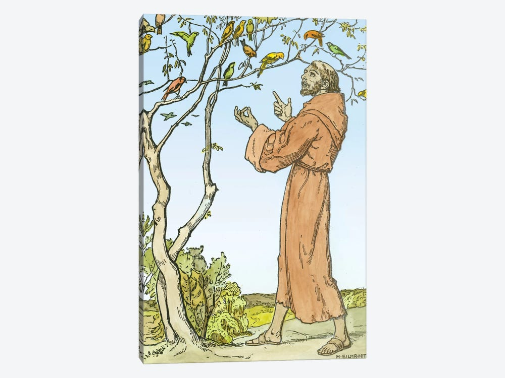 St. Francis of Assisi  by Hellmut Eichrodt 1-piece Art Print