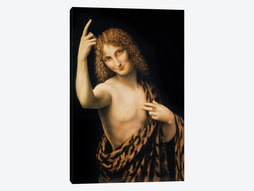 St. John the Baptist, 16th century  by Leonardo da Vinci 1-piece Canvas Wall Art