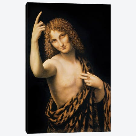 St. John the Baptist, 16th century  Canvas Print #BMN2963} by Leonardo da Vinci Canvas Art Print