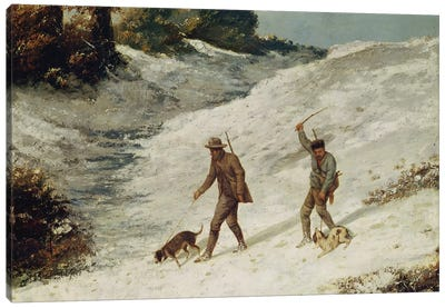 Hunters in the Snow or The Poachers  Canvas Art Print