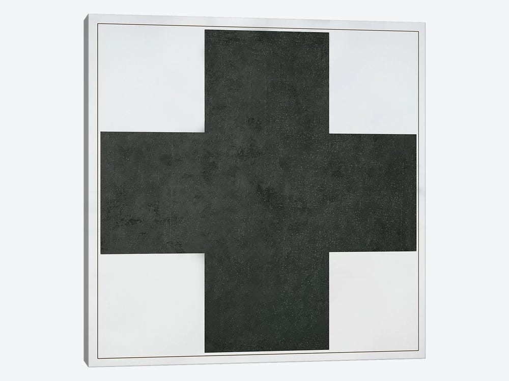 Black Cross, c.1923  by Kazimir Severinovich Malevich 1-piece Canvas Wall Art