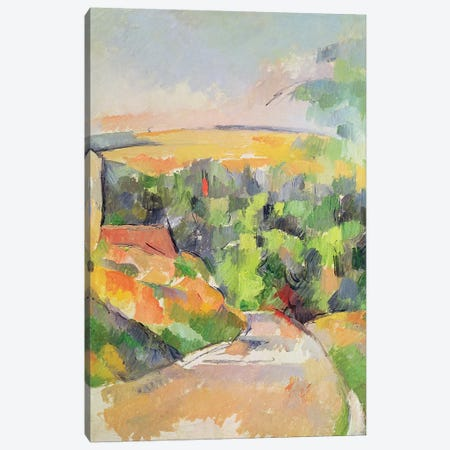 The Bend in the road, 1900-06  Canvas Print #BMN2973} by Paul Cezanne Canvas Wall Art