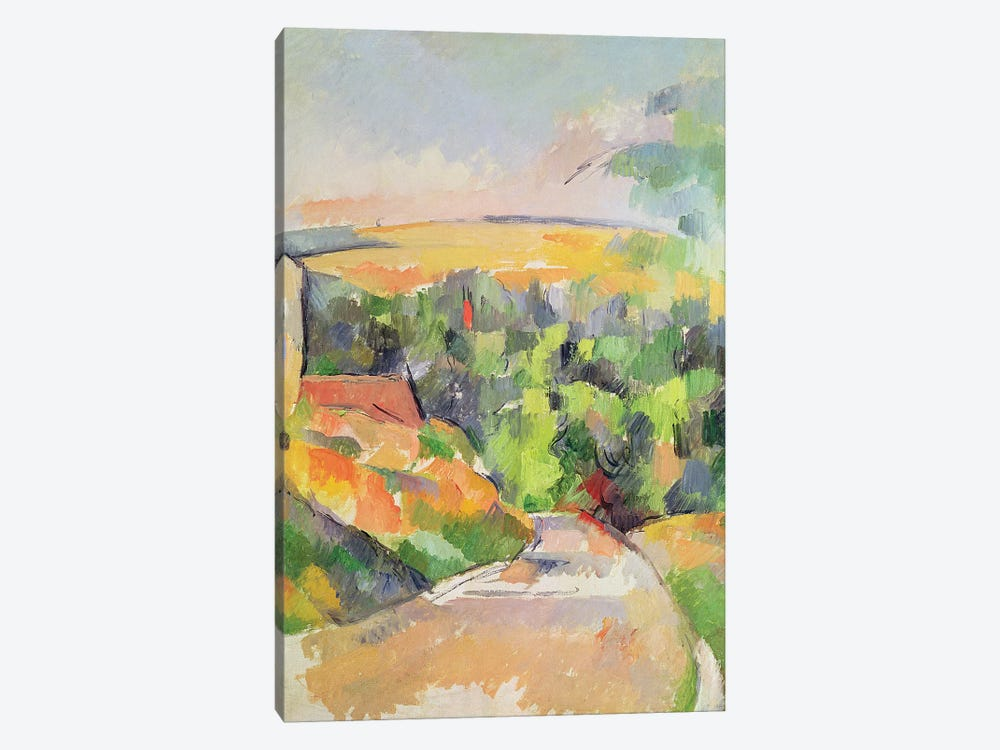The Bend in the road, 1900-06  by Paul Cezanne 1-piece Art Print