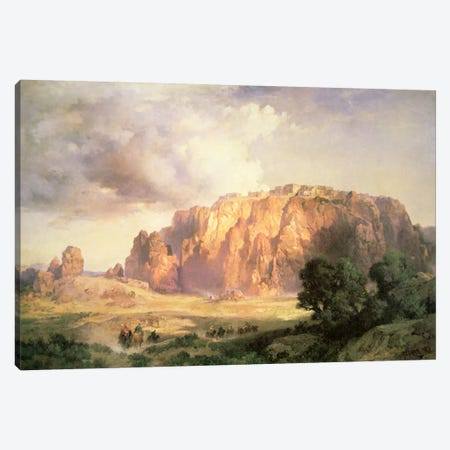 The Pueblo of Acoma, New Mexico  Canvas Print #BMN2975} by Thomas Moran Canvas Print