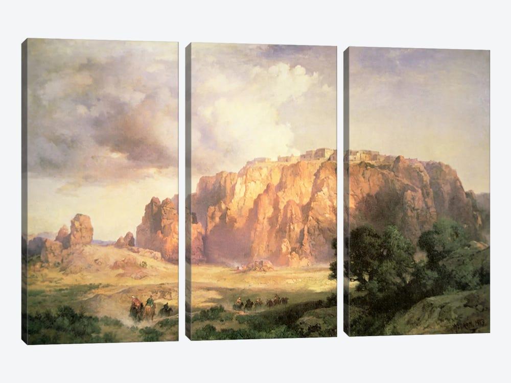 The Pueblo of Acoma, New Mexico  by Thomas Moran 3-piece Canvas Print