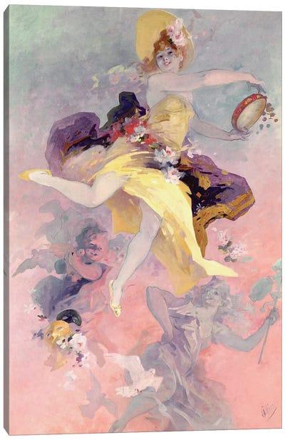 Dancer with a Basque Tambourine  Canvas Art Print