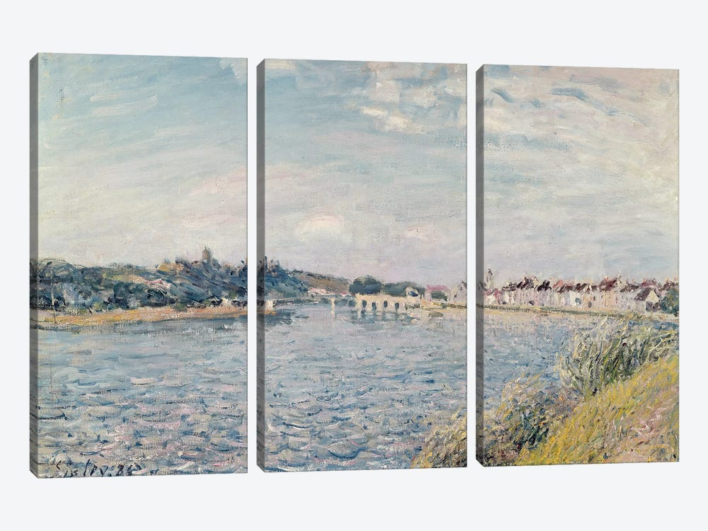 Landscape, 1888  by Alfred Sisley 3-piece Canvas Art