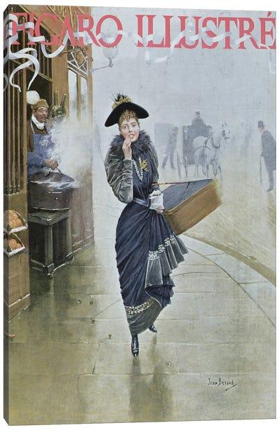 Young Parisian hatmaker, cover illustration of 'Figaro Illustre', February 1892  Canvas Art Print