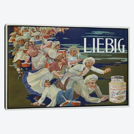 Advertisement for 'Extractum Carnis Liebig'  Canvas Print #BMN2985} by English School Canvas Wall Art