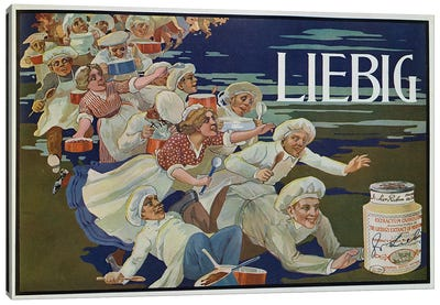 Advertisement for 'Extractum Carnis Liebig' Canvas Art Print
