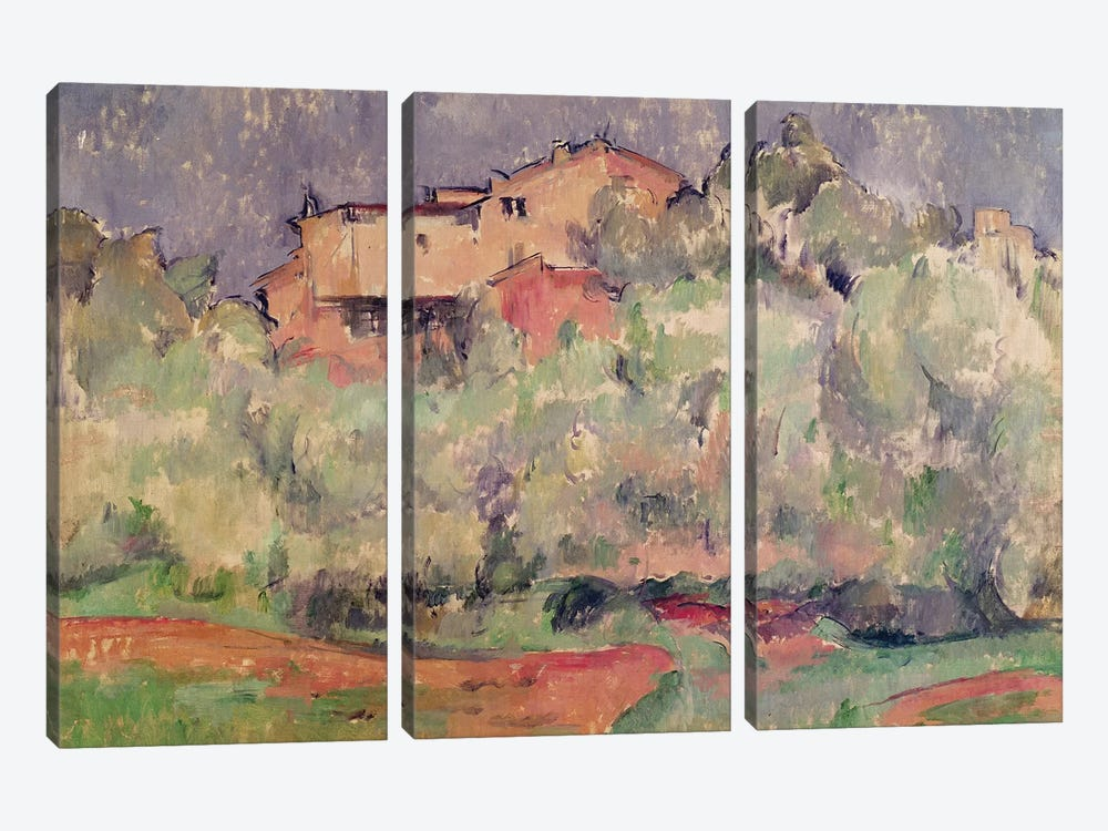 The House at Bellevue, 1888-92  by Paul Cezanne 3-piece Canvas Wall Art