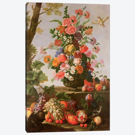Flower Piece, 17th century Canvas Print #BMN298} by Michele Pace del Campidoglio Canvas Print