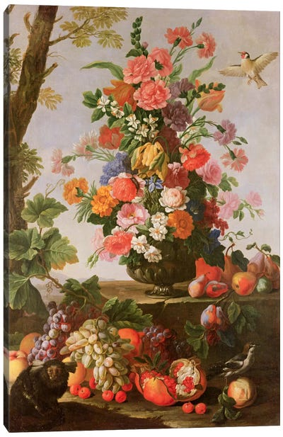 Flower Piece, 17th century Canvas Art Print