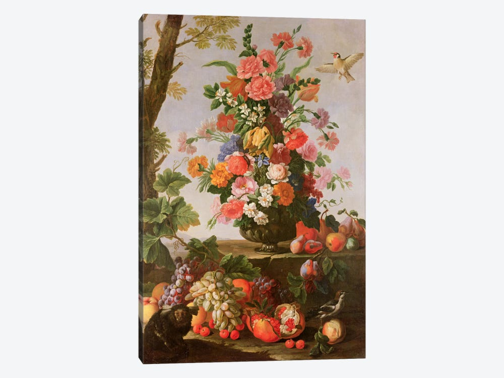 Flower Piece, 17th century by Michele Pace del Campidoglio 1-piece Canvas Art Print