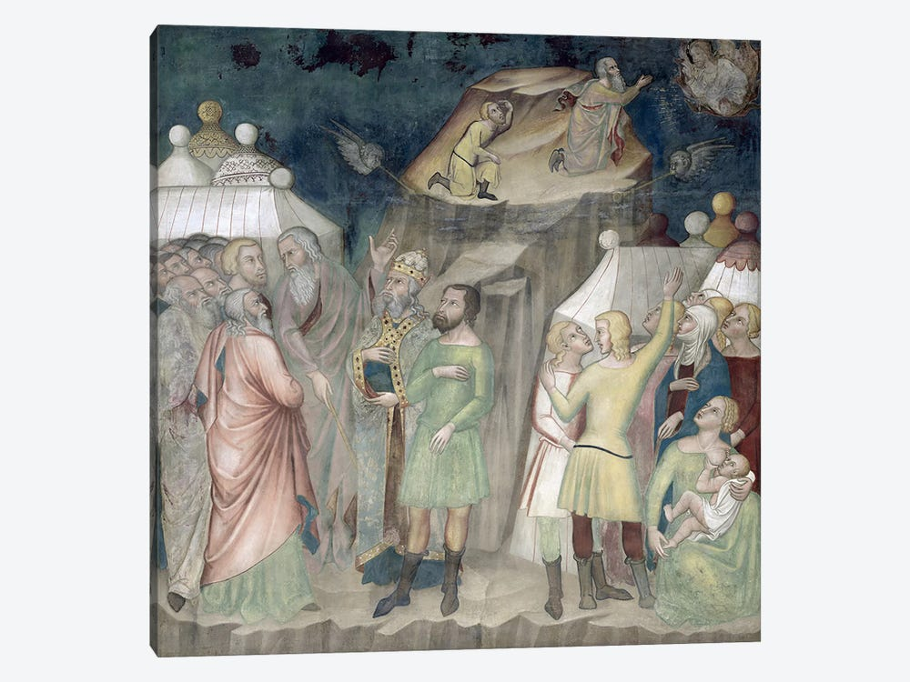 Moses on Mount Sinai, 1356-67  by Manfredi de Battilori Bartolo di Fredi 1-piece Canvas Art