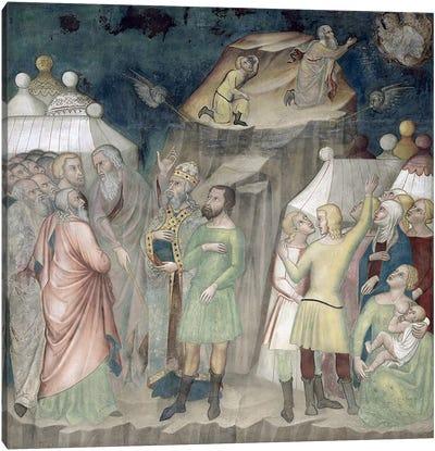 Moses on Mount Sinai, 1356-67  Canvas Art Print