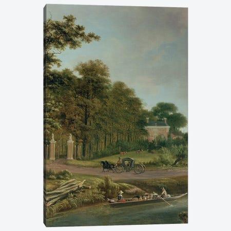 A Country House Canvas Print #BMN299} by J. Hackaert Canvas Art Print