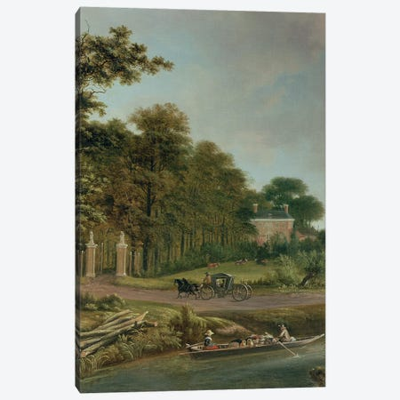 A Country House Canvas Print #BMN299} by J. Hackaert Canvas Art Print