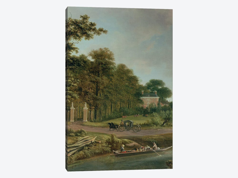 A Country House by J. Hackaert 1-piece Canvas Art
