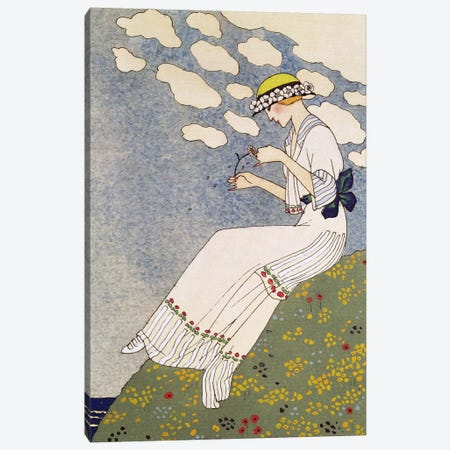 N'en Dites Rien, from the Gazette du Bon Ton No.10, 1913 Canvas Print #BMN2} by George Barbier Canvas Print