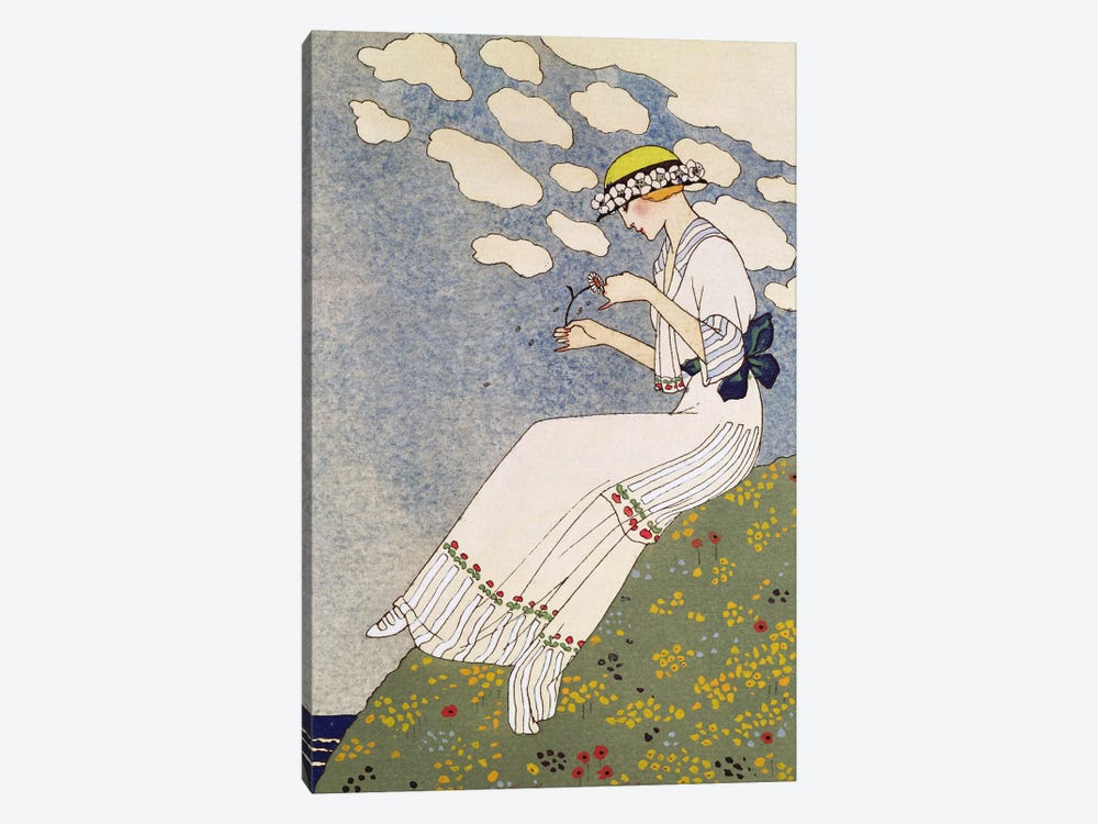 N'en Dites Rien, from the Gazette du Bon Ton No.10, 1913 by Georges Barbier 1-piece Canvas Artwork