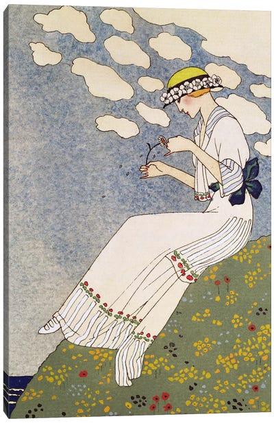 N'en Dites Rien, from the Gazette du Bon Ton No.10, 1913 Canvas Art Print