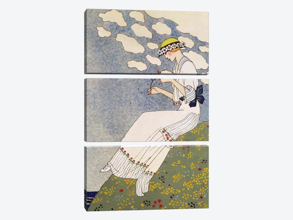 N'en Dites Rien, from the Gazette du Bon Ton No.10, 1913 by George Barbier 3-piece Canvas Art