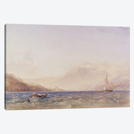 The Head of Loch Fyne, with Dindarra Castle, 1850  Canvas Print #BMN3003} by Anthony Vandyke Copley Fielding Art Print