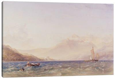 The Head of Loch Fyne, with Dindarra Castle, 1850  Canvas Art Print