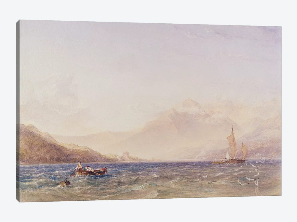 The Head of Loch Fyne, with Dindarra Castle, 1850  by Anthony Vandyke Copley Fielding 1-piece Canvas Artwork