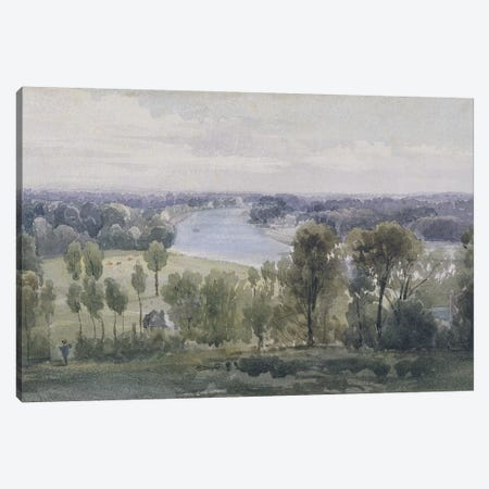 Richmond Hill, 1830  Canvas Print #BMN3004} by Anthony Vandyke Copley Fielding Canvas Wall Art