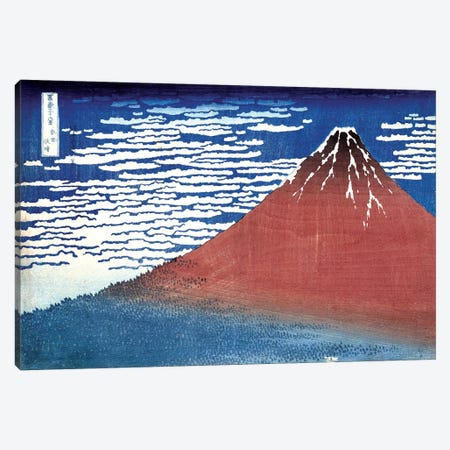 Fine Wind, Clear Morning (Red Fuji) c.1830-32 (Musee Claude Monet) Canvas Print #BMN3008} by Katsushika Hokusai Canvas Art Print