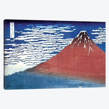 Fine Wind, Clear Morning (Red Fuji) c.1830-32 (Musee Claude Monet) Canvas Print #BMN3008} by Katsushika Hokusai Canvas Art Print