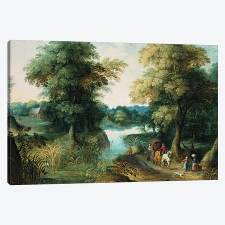 River Landscape Canvas Print #BMN300} by Jan Brueghel the Elder Canvas Print