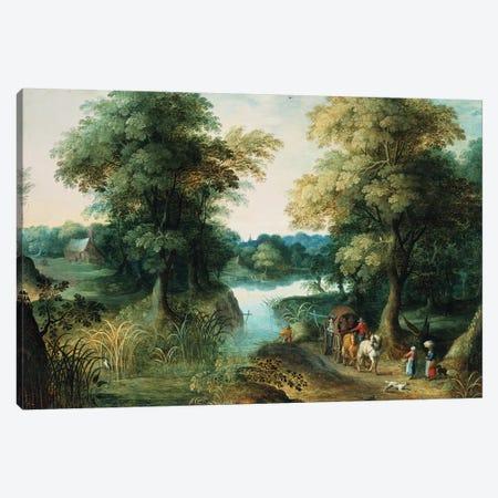 River Landscape Canvas Print #BMN300} by Jan Brueghel the Elder Canvas Print