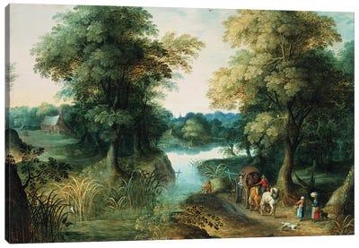 River Landscape Canvas Art Print