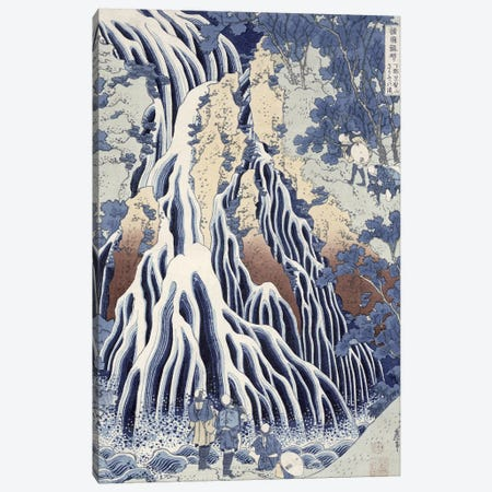 Kirifuri Fall On Kurokami Mount (Musee Claude Monet) Canvas Print #BMN3010} by Katsushika Hokusai Canvas Wall Art
