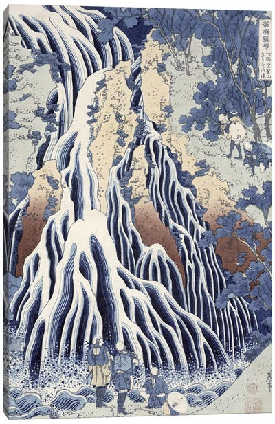 Kirifuri Fall on Kurokami Mount, from the series 'Shokoku Taki Meguri' Canvas Art Print