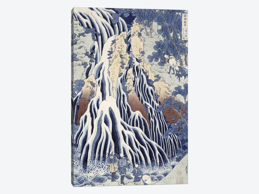 Kirifuri Fall On Kurokami Mount (Musee Claude Monet) by Katsushika Hokusai 1-piece Canvas Artwork