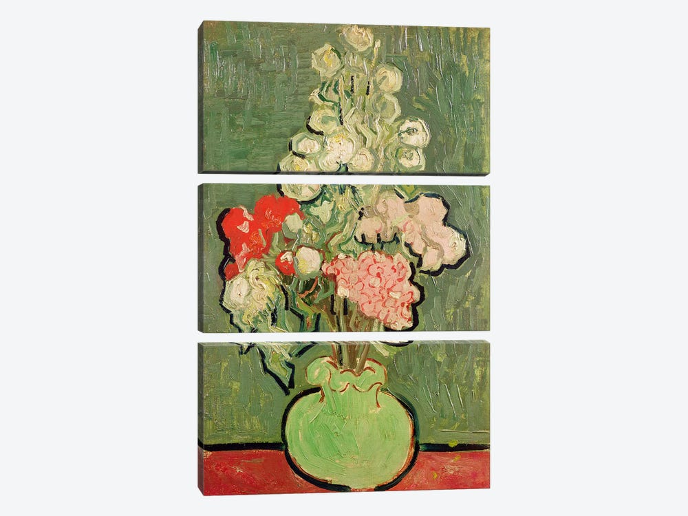 Bouquet of flowers, 1890  by Vincent van Gogh 3-piece Canvas Artwork