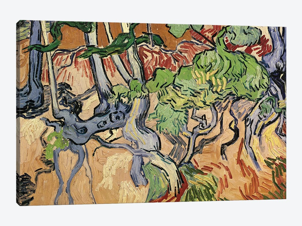 Tree roots, 1890  by Vincent van Gogh 1-piece Canvas Art Print
