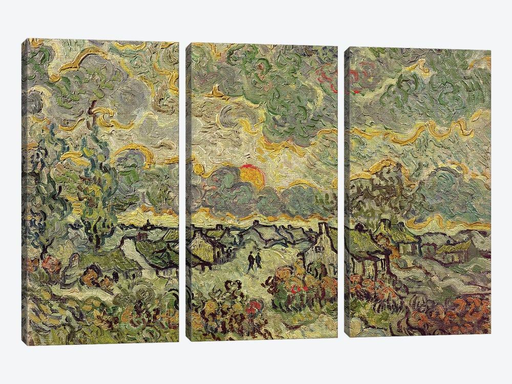 Autumn landscape, 1890  by Vincent van Gogh 3-piece Canvas Art