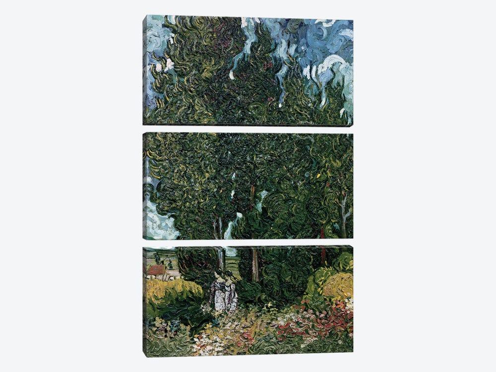 The cypresses, c.1889-90  by Vincent van Gogh 3-piece Canvas Art Print