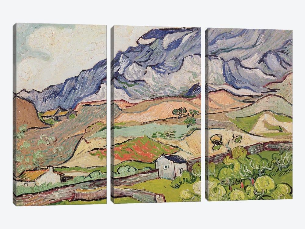 The Alpilles, 1890  by Vincent van Gogh 3-piece Canvas Art