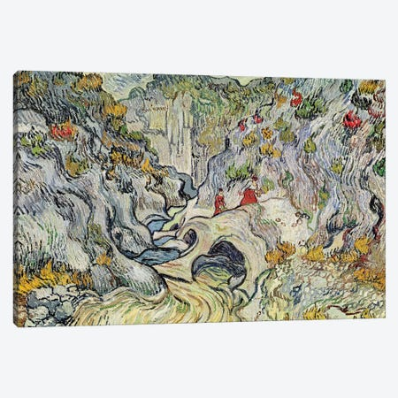 The ravine of the Peyroulets, 1889  Canvas Print #BMN3017} by Vincent van Gogh Canvas Art Print
