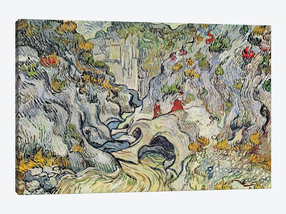 The ravine of the Peyroulets, 1889  by Vincent van Gogh 1-piece Art Print